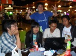 Wisnu Pamungkas, Iz Chita, saya (berdiri,baju biru), Arief Sabkli (dpn laptop) dan Fachruddin Eka Putra